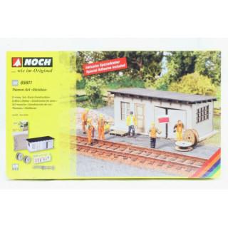 Tématický set - Železniční stavbaři s boudou NO65611