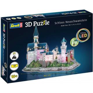 3D Puzzle REVELL 00151 - Schloss Neuschwanstein (LED Edition)