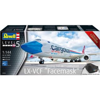 "Plastic ModelKit letadlo 03836 - Boeing 747-8F CARGOLUX LX-VCF ""Facemask"" (1:144)"