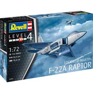 Plastic ModelKit letadlo 03858 - Lockheed Martin F-22A Raptor (1:72)