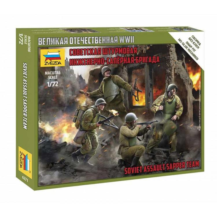 Wargames (WWII) figurky 6271 – Soviet Assault Group (1:72)