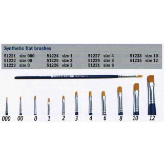 Brush Synthetic Flat  51223 - plochý syntetický štětec (velikost 0)