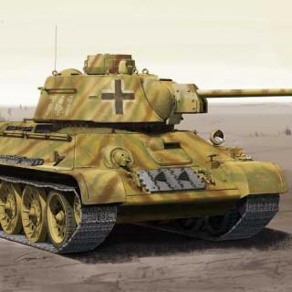 Model Kit tank 13502 - German T-34/76 747(r) (1:35)