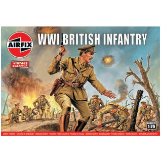 Classic Kit VINTAGE figurky A00727V - WW1 British Infantry (1:76)