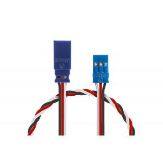 Prodlužovací kabel 350mm, FUTABA 0,35qmm kroucený silikonkabel, 1 ks.