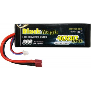 LiPol Car Black Magic 7.4V 4000mAh 30C Deans