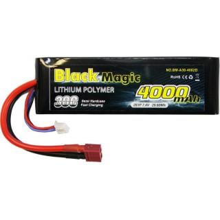 LiPol Car Black Magic 7.4V 4000mAh 30C Deans