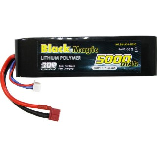 LiPol Car Black Magic 11.1V 5000mAh 30C Deans