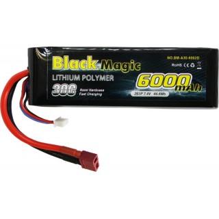 LiPol Car Black Magic 7.4V 6000mAh 30C Deans