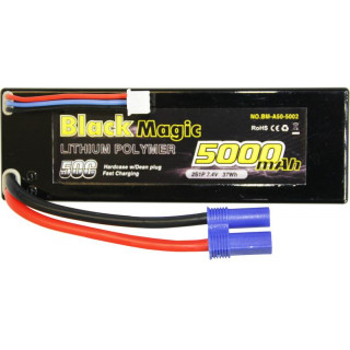 Black Magic LiPol Car 7.4V 5000mAh 50C EC3