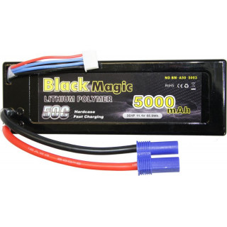 Black Magic LiPol Car 11.1V 5000mAh 50C EC5