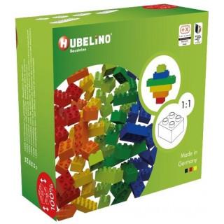 HUBELINO Kuličková dráha - barevné kostky 60 dílků