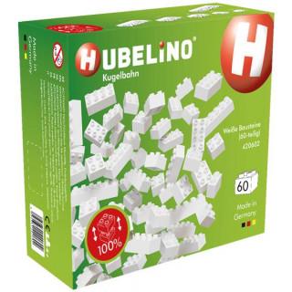 HUBELINO Kuličková dráha - kostky bílé 60 dílků