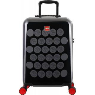 """LEGO Luggage Cestovní kufr Brick Dots 20"""" - černý/šedý"""
