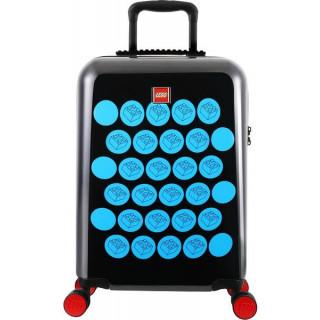 """LEGO Luggage Cestovní kufr Brick Dots 20"""" - černý/modrý"""