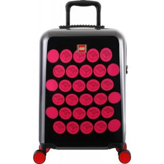 """LEGO Luggage Cestovní kufr Brick Dots 20"""" - černý/růžový"""