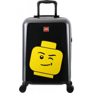 """LEGO Luggage Cestovní kufr Minifigure Head 20"""" - černý"""
