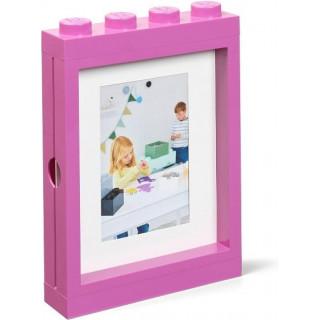 LEGO fotorámeček růžový
