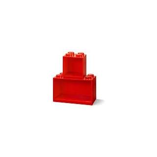LEGO Brick závěsné police červené, set 2ks