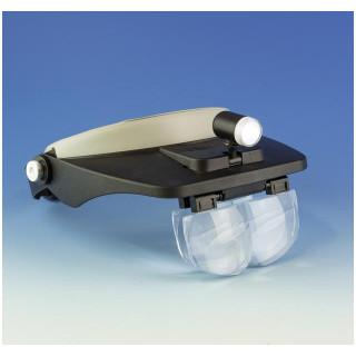 Lightcraft čelenka s lupou a LED osvětlením (set)