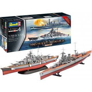 Plastic ModelKit lodě Limited Edition 05174 - Battle Set HMS HOOD vs. BISMARCK - 80th Anniversary (1:700)