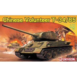 Model Kit tank 7668 - Chinese Volunteer T-34/85 (1:72)