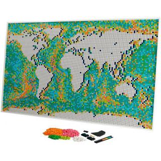 LEGO ART - Mapa světa