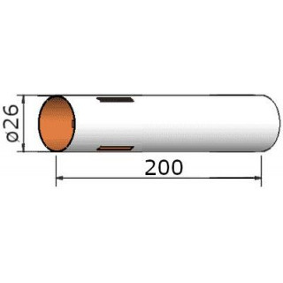 Klima Papírová trubka 26x200mm 3-drážky