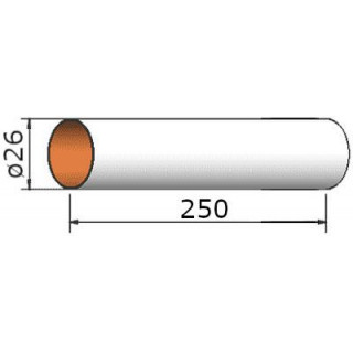 Klima Papírová trubka 26x250mm