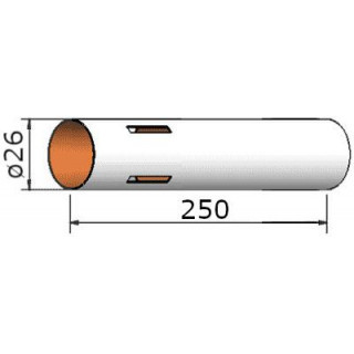 Klima Papírová trubka 26x250mm 4-drážky