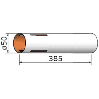 Klima Papírová trubka 50x385mm 4-drážky
