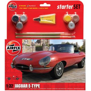 "Starter Set auto A55200 - Jaguar ""E"" Type (1:32)"