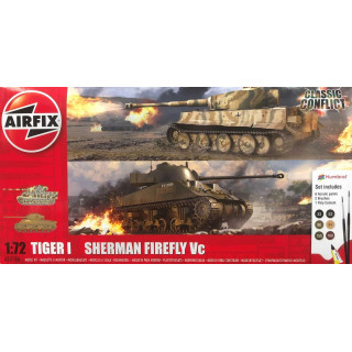 Gift Set tanky A50186 - Classic Conflict Tiger 1 vs Sherman Firefly (1:72)