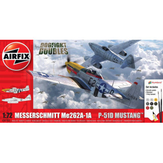 Gift Set letadla A50183 - Messerschmitt Me262 & P-51D Mustang Dogfight Double (1:72)