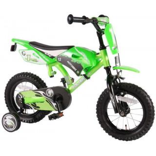 """Volare - Dětské kolo 12"""" Motobike Green"""
