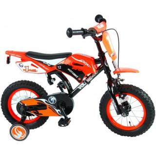 """Volare - Dětské kolo 12"""" Motobike Orange"""