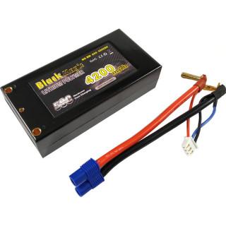 Black Magic LiPol Car 7.4V 4200mAh 50C Short EC3