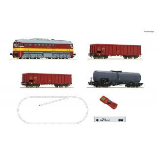ROCO Z21 start digital set: Dieselová lokomotiva T679.1 s nákladními vozy, CSD