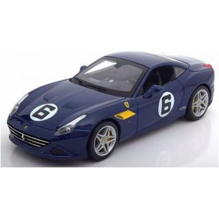 Bburago 70th Anniversary Collection Ferrari California T 1:18 NO6 modrá