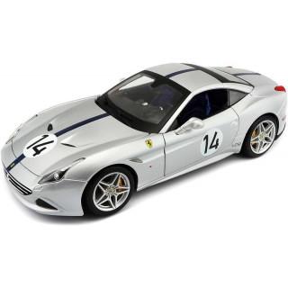 Bburago 70th Anniversary Collection Ferrari California T 1:18 NO14 stříbrná