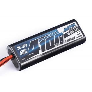ANTIX by LRP 4100mAh - 7.4V - 50C LiPo Car Stickpack Hardcase - Tamiya konektor