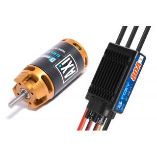 Combo set AXI 2835/10 V2 LONG + FOXY G2 80A regulátor