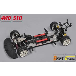 Drift 4WD 510 E + BMW M3 E30 2mm čirá karoserie