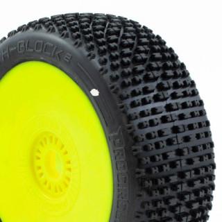 H-BLOCK V2 BUGGY C1 (SUPER SOFT) nalepené gumy, žluté disky (2 ks.)