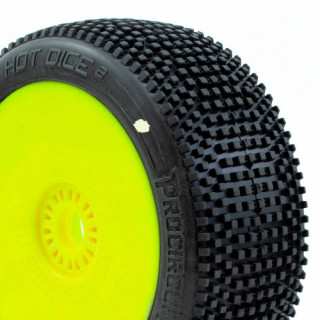HOT DICE V2 BUGGY C1 (SUPER SOFT) nalepené gumy, žluté disky (2 ks.)