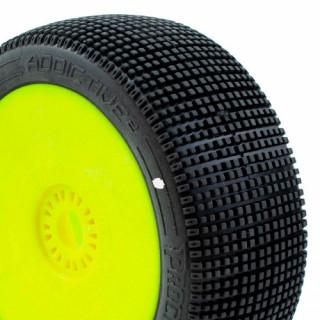 ADDICTIVE V2 BUGGY C1 (SUPER SOFT) nalepené gumy, žluté disky (2 ks.)