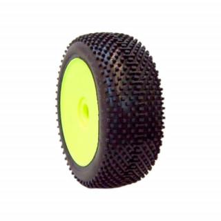 1/8 DOMINATOR COMPETITION OFF ROAD gumy nalepené gumy, HYPER SOFT směs, žluté disky, 2ks.