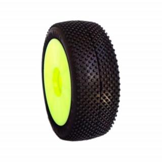 1/8 TERMINATOR COMPETITION OFF ROAD gumy nalepené gumy, SOFT směs, žluté disky, 2ks.