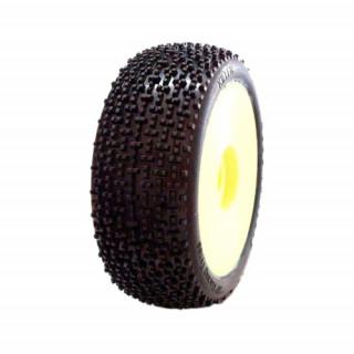 1/8 KILLER COMPETITION OFF ROAD gumy nalepené gumy, SOFT směs, žluté disky, 2ks.