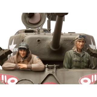1/16 stavebnice figurek U.S Tanková osádka, 2 ks.